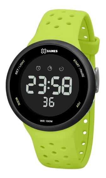 Relógio X-games Masculino Digital Xmppd546 Preto Verde
