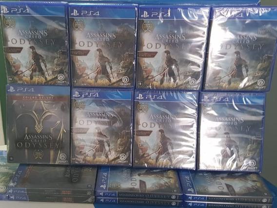 Game Jogo Ps4 Assassins Creed Odyssey Mídia Física