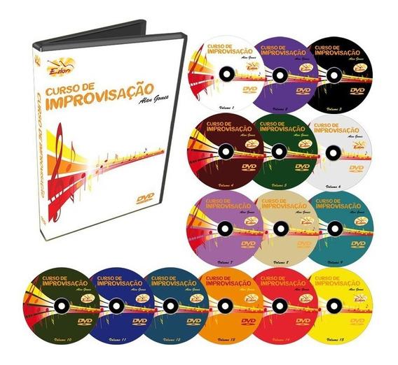 Coleção Curso De Improvisação Em 15 Dvds - Edon - Original