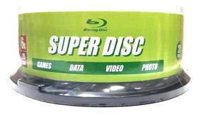 100 Dvd Blu Ray 25gb Super Disc Printable 135 Minutos 6x
