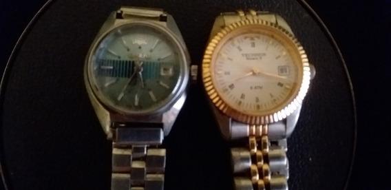 Lote 2 Relógios De Pulso Feminino Technos E Orient