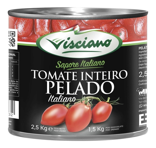 Tomates Enteros Pelados Viscino (italia) - g a $7
