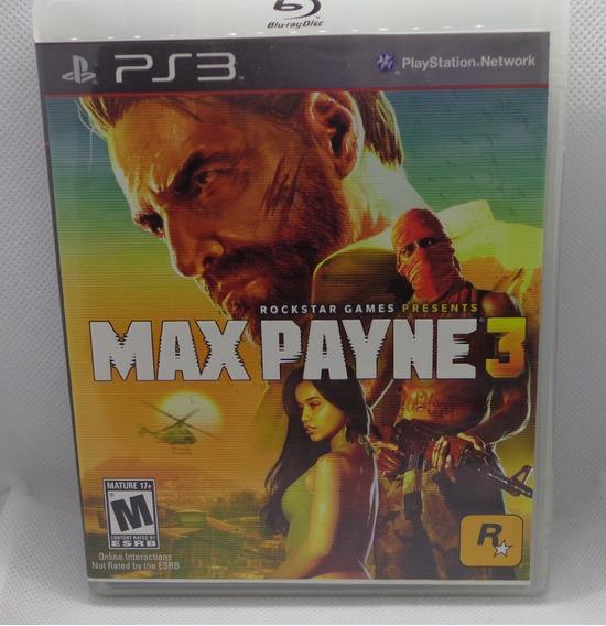 Max Payne 3 Ps3 Mídia Física Completo