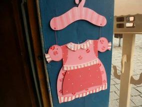 Vestido Para Porta De Meninas ,em Madeira