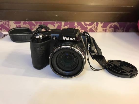 Câmera Semiprofissional Em Ótimo Estado (nikon Coolpix L110)