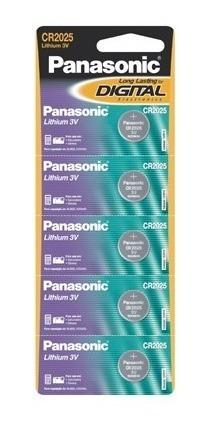 Bateria Botão Panasonic Cr2025 Cartela C/5