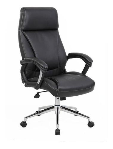 Imagen 1 de 3 de Silla de escritorio Newmo Topaz  negra con tapizado de cuero sintético