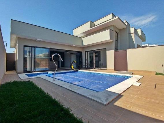 Casa Com 3 Dormitórios À Venda, 250 M² Por R$ 1.590.000,00 - Condomínio Villa Lobos - Paulínia/sp - Ca0906