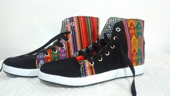 Zapatillas Norteñas De Aguayo (tipo Botitas, N. 34 Al 43)