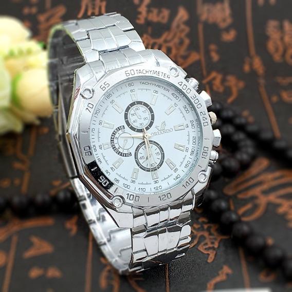 Relógio Masculino Promoção Pulseira Aço Inox Luxo Original