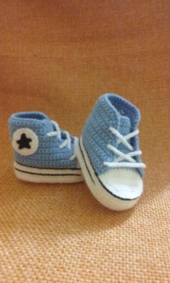 Zapatillas Tejidas Para Bebé Estilo Converse