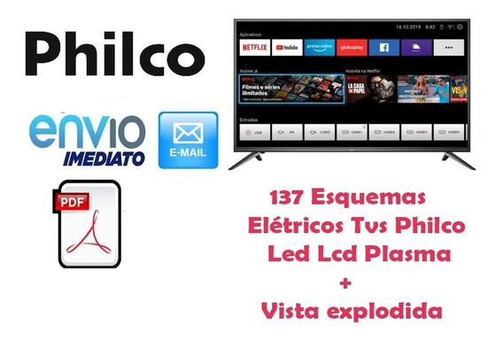Kit Com 137 Esquemas Elétricos Tvs Philco Led Lcd Plasma