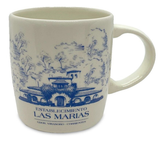 Taza Cerámica Las Marías Azul
