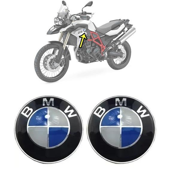 Par Adesivos Emblemas Tanque Bmw Moto F800 Gs 1200 Aluminium
