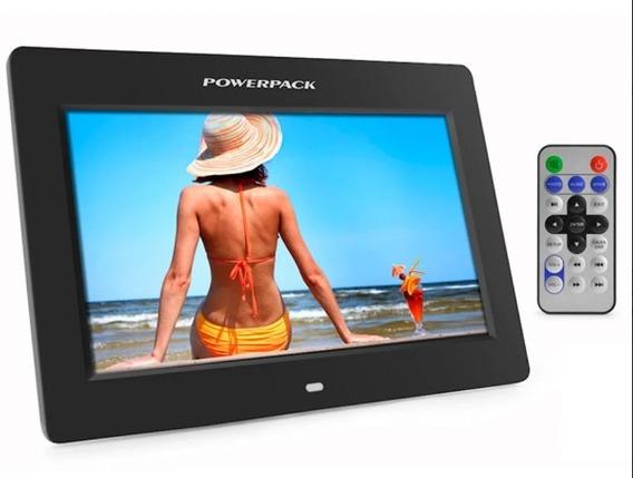 Porta Retrato Digital Powerpack Tela 7 Lcd Controle- Preto