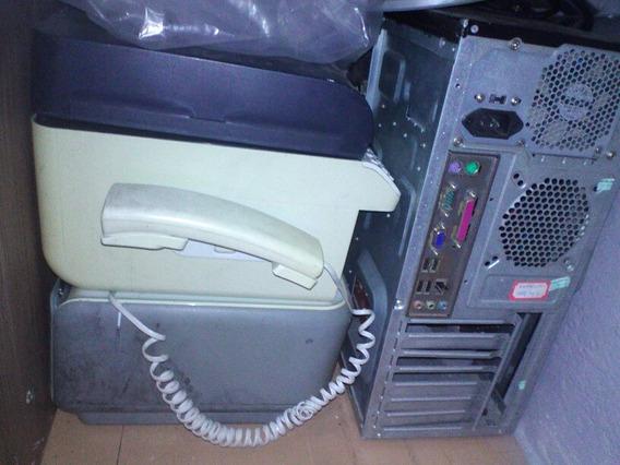 Computador Com 2 Impressora E Monitor