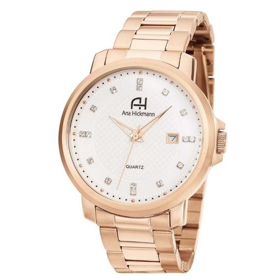 Relógio Feminino Ana Hickmann Analógico Ah29061z Rosê