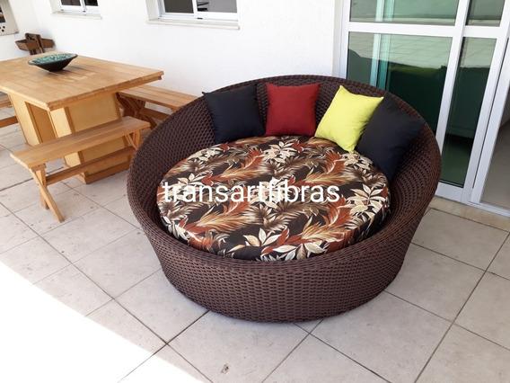 Sofa Chaise Concha De Fibra Sintetica De 1.60 P Area Externa