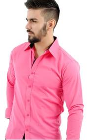 Kit 4 Camisa Social Masculina Slim Casamento Tricoline 2019
