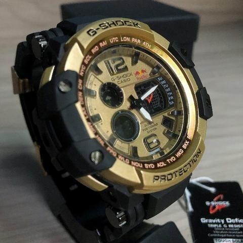 Relógio Masculino Preto Ga 700 1bdr Nova Linha