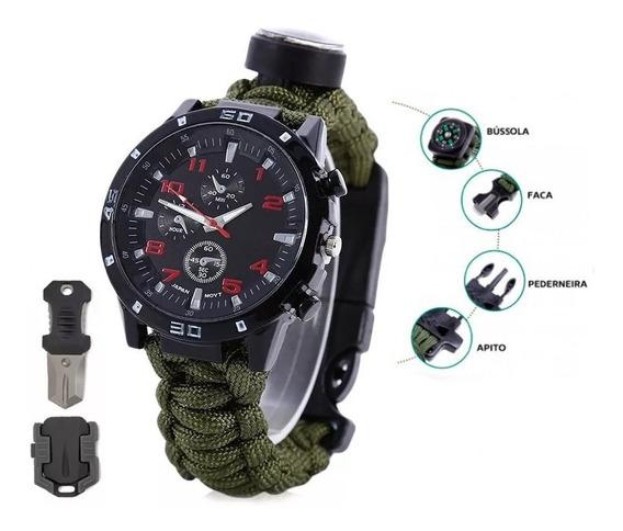 Relógio Tático Militar Sobrevivência Selva Trilhas Escoteiro