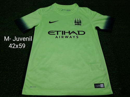 Camisa Manchester City Third 2015/2016 Verde Limão  Juvenil