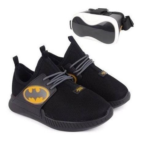 Tênis Infantil Liga Da Justiça Batman Com Óculos