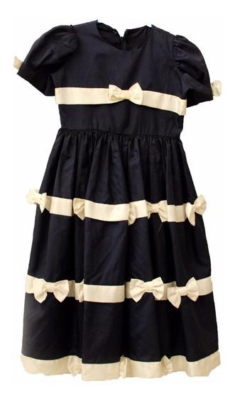 Roupas Para Estúdio Fotográfico:vestido Infantil Laços Azul