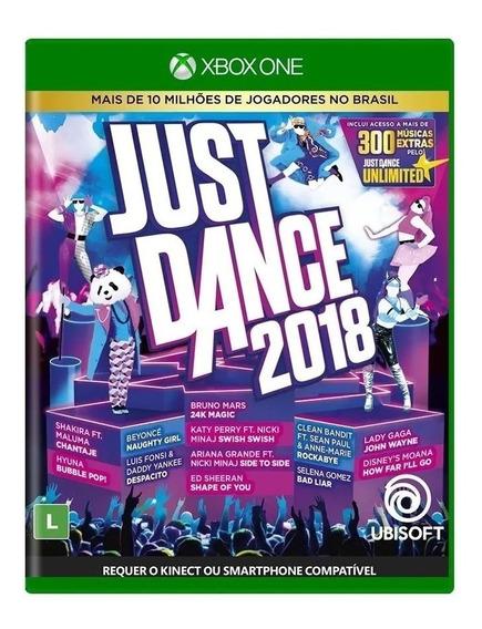 Just Dance 2018 Xbox One Mídia Física Novo Lacrado