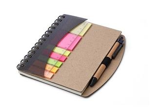 Cuaderno Ecológico Set De Notas Anillado Con Bolígrafo