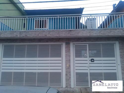 Imagem 1 de 15 de Lindo Sobrado 3 Dormitorios Com Edicula - Parque Maria Helena - V0337