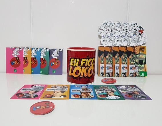 Kit Eu Fico Loko - Christian + Cards + Botton + Caneca