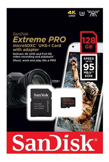 Cartão Micro Sd 128gb Extreme Pro Speed 95mb/s