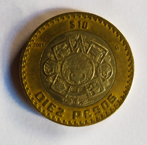 Grafila Invertida. Diez Pesos Del Año 2007