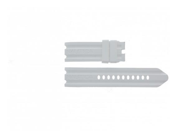 Pulseira Relógio Nautica 24mm Branco Silicone