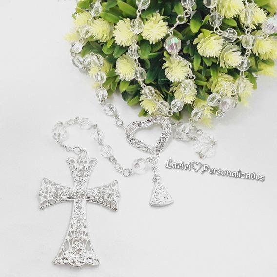 Terco De Noiva Prata Cristal Casamento