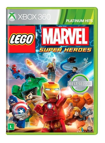 Lego Marvel Super Heroes Xbox 360 Envio Imediato Novo Com Nf