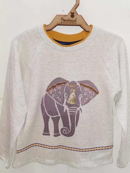 Sudadera Para Niña Beige Elefante