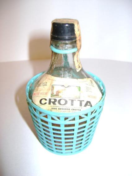 Antigua Botellita Miniatura Damajuana Vino Crotta
