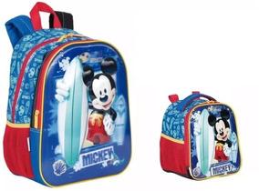 Mochila M Mickey Disney 18x 3d Costas Sestini + Lancheira