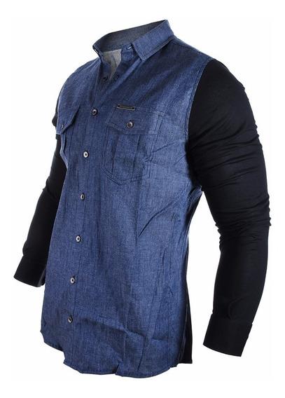 Camisa Hombre Farenheite Jean Mangas