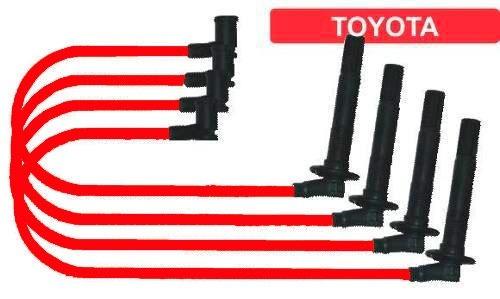 Cabo Vela Toyota Corona Fio 8mm Na Cor Vermelho 67538