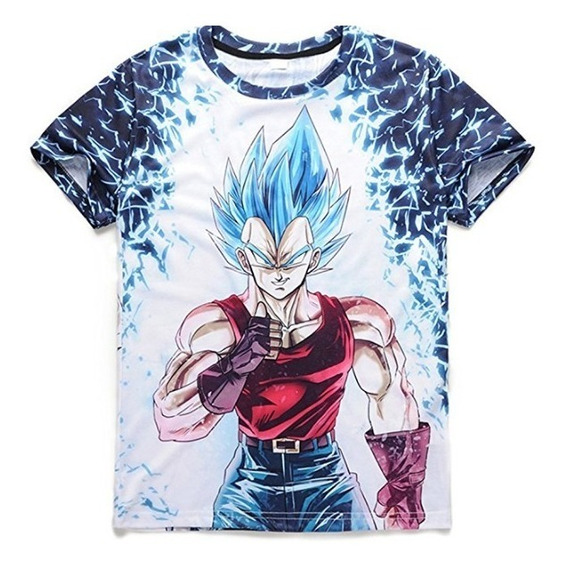 Camiseta Dragon Ball Goku Rojo Celeste
