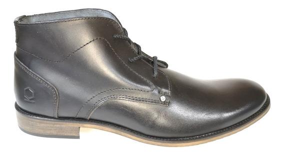 Zapato Piel Liso Paruno Caballero P215891 Negro