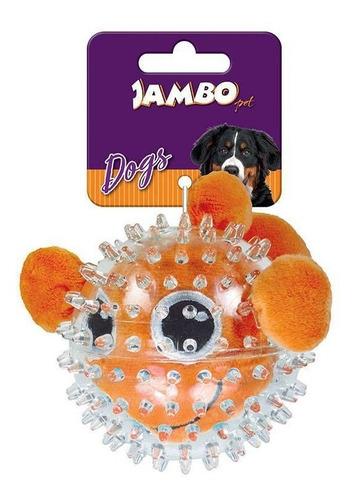 Imagem 1 de 2 de Brinquedo Para Cachorro Bola Pelúcia Spik Ball Peixe Jambo