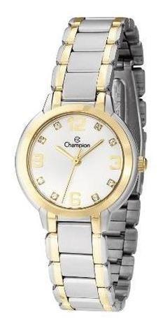 Relógio Champion Feminino Prateado E Dourado Cn28419b