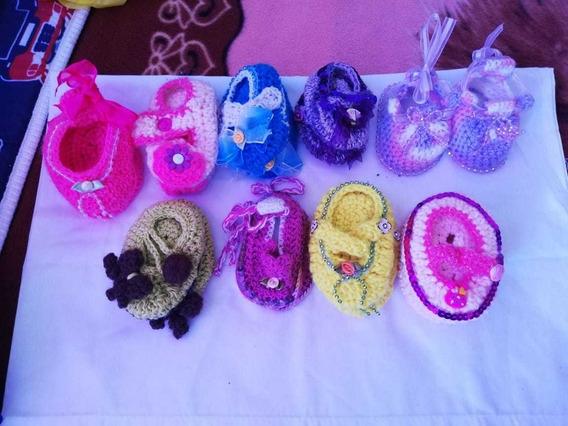 10 Zapatitos De Nena Tejidos