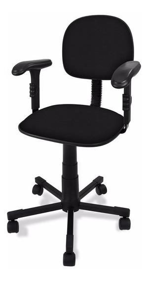 Cadeira Secretária Giratória C/ Braços Reguláveis - Promoção