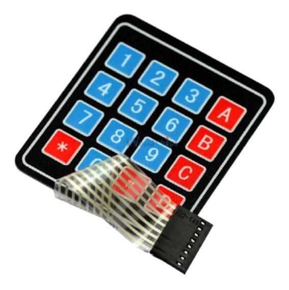Teclado Membrana Matricial 4x4 16 Teclas Compatível Arduino
