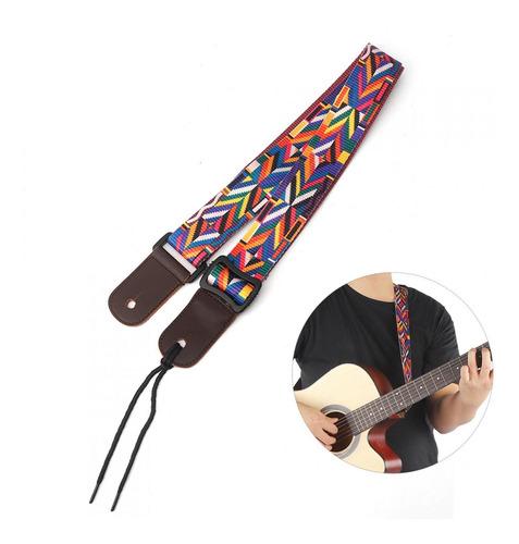 Imagen 1 de 9 de Correa De Guitarra Ajustable Para Ukelele Bajo Musical